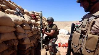 Iraqi Kurdish Peshmerga fighters pictured in August 2015