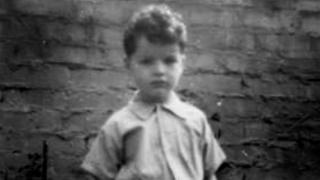 Robin King as a young boy