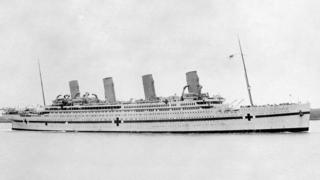 HMHS Britannic seen during World War I