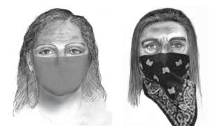 Sketches released by the FBI show two women suspected of abducting a California mother last November