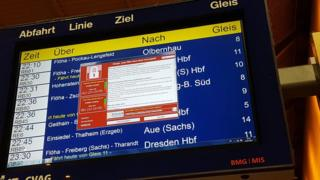 frankfurt departure screen