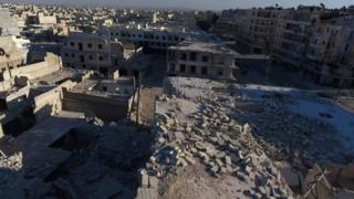 Alepo en ruina en septiembre de 2016