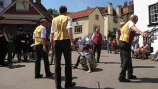 Performers at the folk weekend