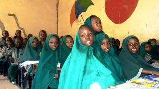 nigerian schoolchildren in class