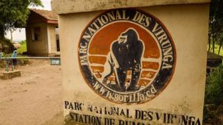 Virunga National Park sign