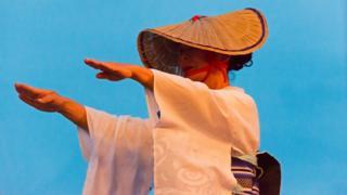 Ama, last mermaids of Japan, Ama women in traditional clothing dancing