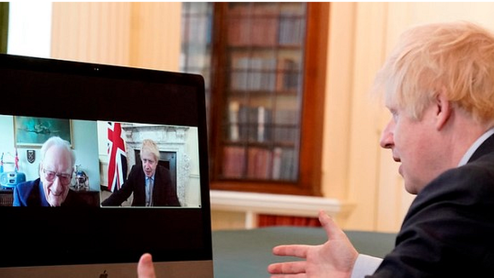 PM on video call to Ernie Horsfall