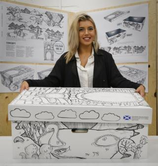 Leanne Young with her winning design