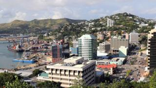 A view of the harbour in Port Moresby