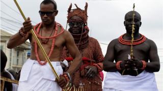 Oba Ewuare II during im coronation for 2016