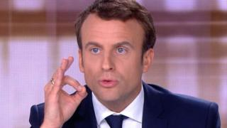 Emmanuel Macron in TV debate, 3 May 17