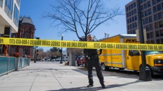 La policía se desplegó en los alrededores de la Casa Blanca.