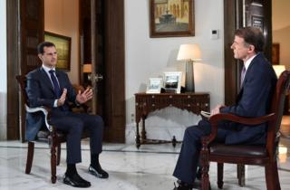 Suriye Devlet Başkanı Beşar Esad, Amerikan NBC televizyonu ile Şam'da görüştü.