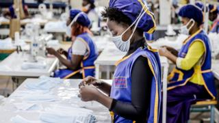 in_pictures Workers producing face masks the KICOTEC factory in Kitui, Kenya - Tuesday 7 April 2020