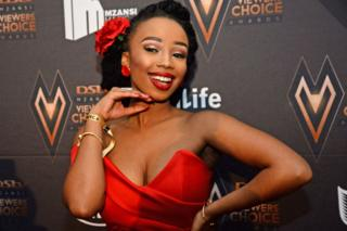Candice Modiselle during the DStv Mzansi Viewer's Choice Awards event at the Sandton Convention Centre, Johannesburg, South Africa - 24 November 2018