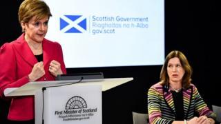 Nicola Sturgeon and Catherine Calderwood