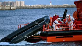 A maritime rescue boat