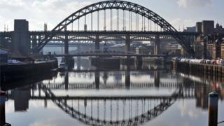 Bridges across the Tyne