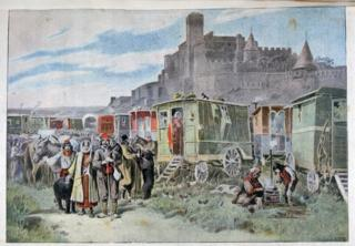 This painting of Gypsies in Carcassonne dates from 1898