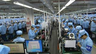 The OnePlus factory in Shenzhen, China