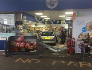 Car in petrol station