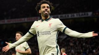 Mo Salah hits a third goal