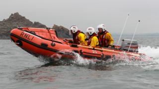 Pwllheli inshore lifeboat at sea