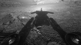 Last image Oppy sent back to Nasa