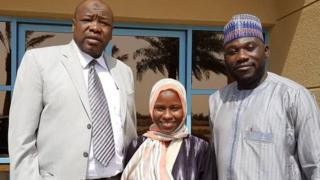 Zainab Aliyu with Officials of Nigerian Consulate for Jeddah.