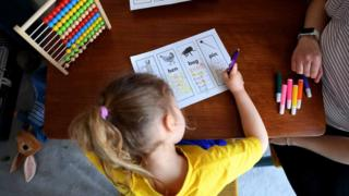 Four year old home schooling, 23 March