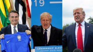 Bolsonaro, Boris Johnson e Trump