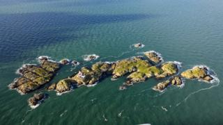 Skerries islet off Anglesey is home to a lighthouse, historic buildings and fragile archaeological earthworks