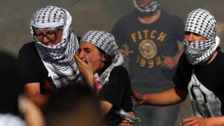Ramallah'ta Mayıs ayında düzenlenen bir gösteride İsrail güvenlik güçlerinin kullandığı plastik mermi sonucu yaralananlar oldu.