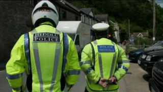 Police on patrol in Tintern