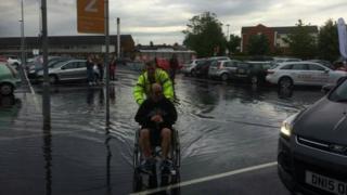 Shopper in a wheelchair