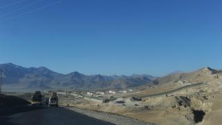 File photo: Vehicles driving along the Kabul Wardak highway in Wardak province, 2 December 2011