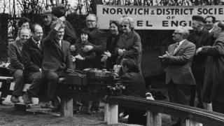 Opening of Eaton Park miniature railway in Norwich