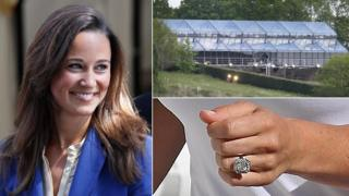 Pippa Middleton, the marguee for her wedding and her engagement ring