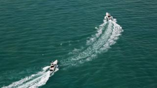 قایقهای تندروی سپاه در خلیج فارس