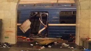Sankt-Peterburqda metroda törədilən partlayış