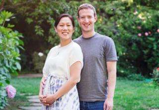 Mark Zuckerberg and Priscilla Chan pose, 31 July 2015