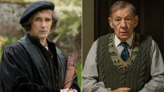 Mark Rylance in Wolf Hall and Sir Ian McKellen in The Dresser