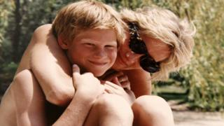 Prince Harry with Diana, Princess of Wales