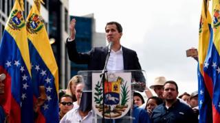 Juan Guaidó, líder da oposição autoproclamado presidente da Venezuela