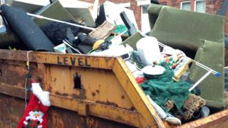 Skip full of rubbish