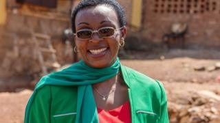 Victoire Ingabire pictured after her release from jail