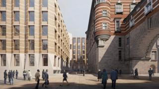 Artist's impression issued by UK Parliament of Richmond House
