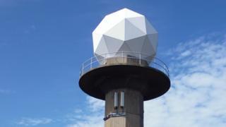 Jersey weather radar dome at La Moye