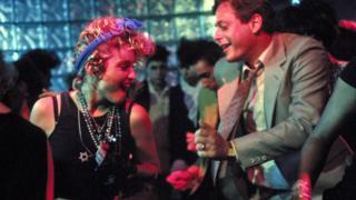 Madonna and Mark Blum in Desperately Seeking Susan