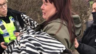 Cheshire Hunt Saboteurs in Huxley